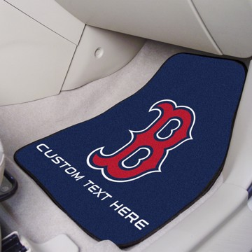 Picture of Boston Red Sox Personalized Carpet Car Mat Set