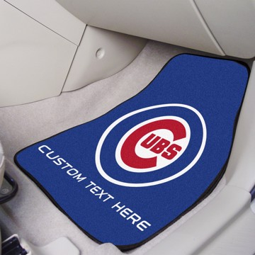 Picture of Chicago Cubs Personalized Carpet Car Mat Set