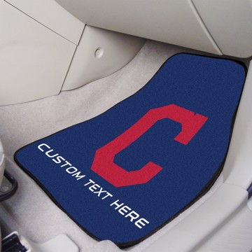 Picture of Cleveland Indians Personalized Carpet Car Mat Set