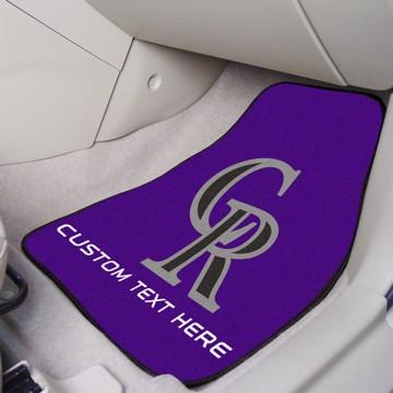 Picture of Colorado Rockies Personalized Carpet Car Mat Set