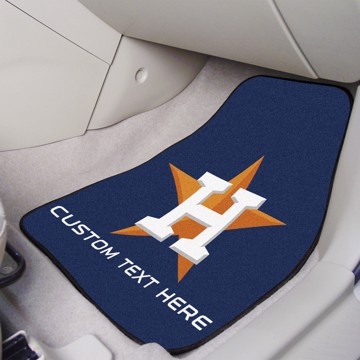 Picture of Houston Astros Personalized Carpet Car Mat Set