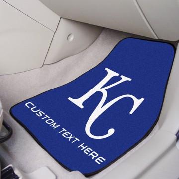 Picture of Kansas City Royals Personalized Carpet Car Mat Set