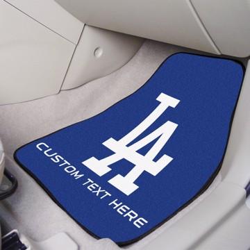Picture of Los Angeles Dodgers Personalized Carpet Car Mat Set