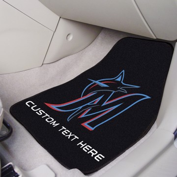 Picture of Miami Marlins Personalized Carpet Car Mat Set
