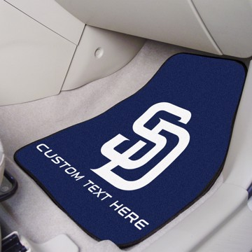 Picture of MLB - San Diego Padres Personalized Carpet Car Mat Set