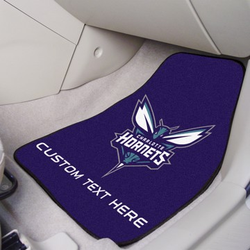 Picture of NBA - Charlotte Hornets Personalized Carpet Car Mat Set