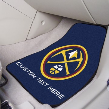 Picture of NBA - Denver Nuggets Personalized Carpet Car Mat Set