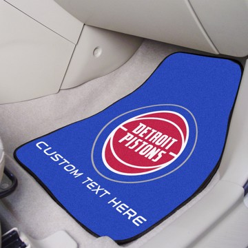 Picture of NBA - Detroit Pistons Personalized Carpet Car Mat Set