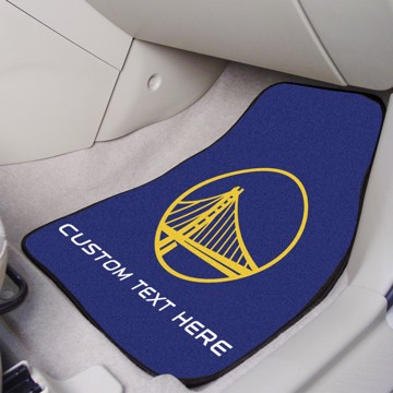 Picture of NBA - Golden State Warriors Personalized Carpet Car Mat Set