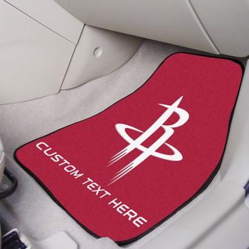Picture of NBA - Houston Rockets Personalized Carpet Car Mat Set