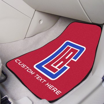 Picture of NBA - Los Angeles Clippers Personalized Carpet Car Mat Set