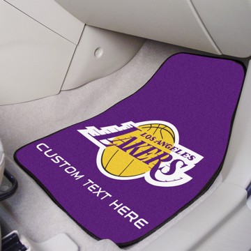 Picture of NBA - Los Angeles Lakers Personalized Carpet Car Mat Set
