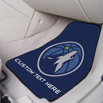 Picture of NBA - Minnesota Timberwolves Personalized Carpet Car Mat Set