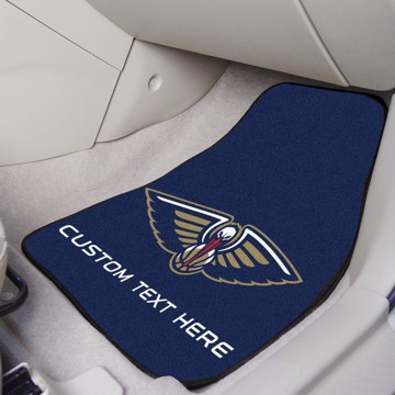 Picture of NBA - New Orleans Pelicans Personalized Carpet Car Mat Set