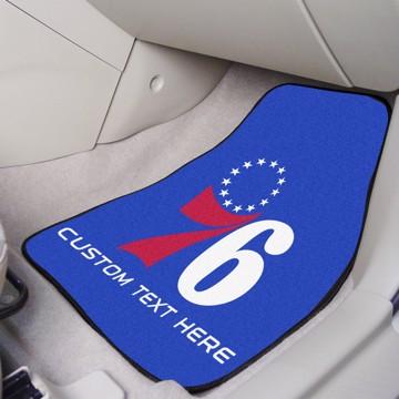 Picture of NBA - Philadelphia 76ers Personalized Carpet Car Mat Set