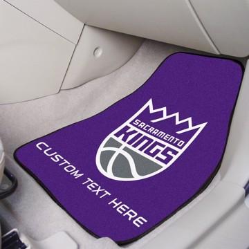 Picture of NBA - Sacramento Kings Personalized Carpet Car Mat Set