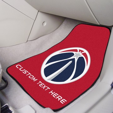 Picture of NBA - Washington Wizards Personalized Carpet Car Mat Set