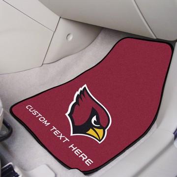 Picture of NFL - Arizona Cardinals Personalized Carpet Car Mat Set