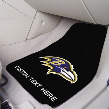 Picture of NFL - Baltimore Ravens Personalized Carpet Car Mat Set