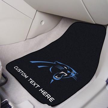 Picture of NFL - Carolina Panthers Personalized Carpet Car Mat Set