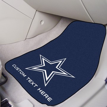 Picture of NFL - Dallas Cowboys Personalized Carpet Car Mat Set