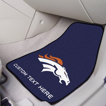 Picture of NFL - Denver Broncos Personalized Carpet Car Mat Set
