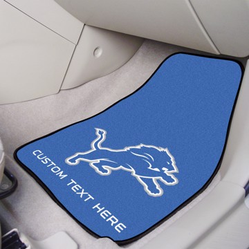 Picture of NFL - Detroit Lions Personalized Carpet Car Mat Set