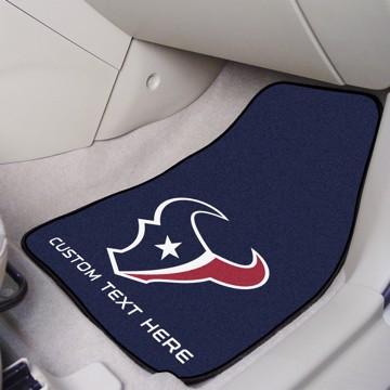 Picture of NFL - Houston Texans Personalized Carpet Car Mat Set