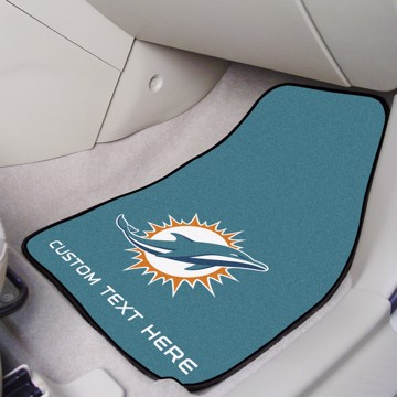 Picture of NFL - Miami Dolphins Personalized Carpet Car Mat Set