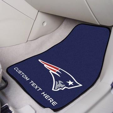 Picture of NFL - New England Patriots Personalized Carpet Car Mat Set