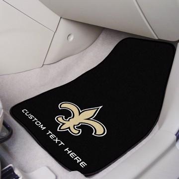 Picture of NFL - New Orleans Saints Personalized Carpet Car Mat Set
