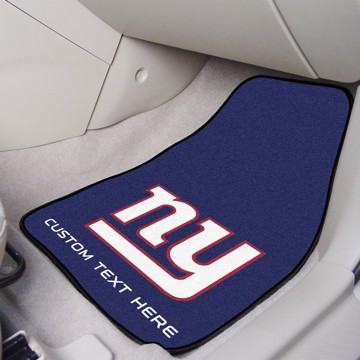 Picture of NFL - New York Giants Personalized Carpet Car Mat Set