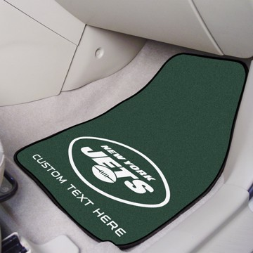 Picture of NFL - New York Jets Personalized Carpet Car Mat Set