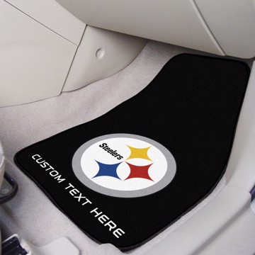 Picture of NFL - Pittsburgh Steelers Personalized Carpet Car Mat Set