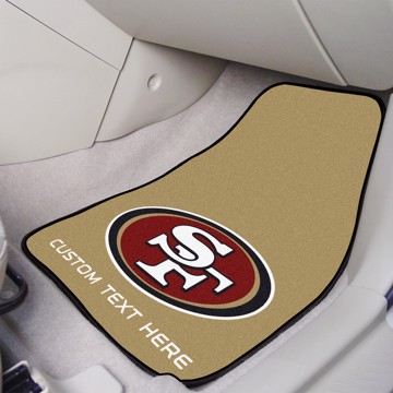 Picture of NFL - San Francisco 49ers Personalized Carpet Car Mat Set