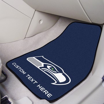 Picture of NFL - Seattle Seahawks Personalized Carpet Car Mat Set