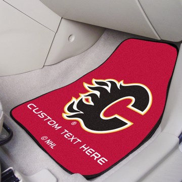 Picture of NHL - Calgary Flames Personalized Carpet Car Mat Set