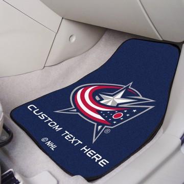 Picture of NHL - Columbus Blue Jackets Personalized Carpet Car Mat Set