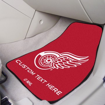 Picture of NHL - Detroit Red Wings Personalized Carpet Car Mat Set