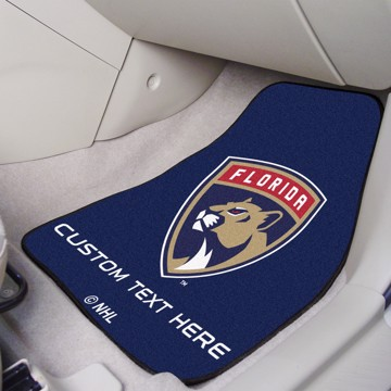 Picture of NHL - Florida Panthers Personalized Carpet Car Mat Set