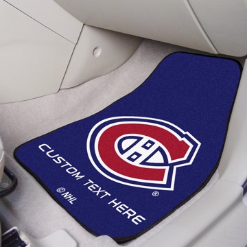 Picture of NHL - Montreal Canadiens Personalized Carpet Car Mat Set