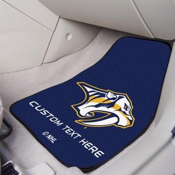Picture of NHL - Nashville Predators Personalized Carpet Car Mat Set
