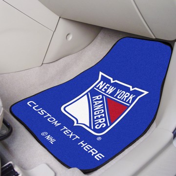 Picture of NHL - New York Rangers Personalized Carpet Car Mat Set