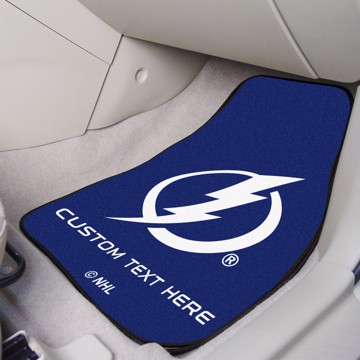 Picture of NHL - Tampa Bay Lightning Personalized Carpet Car Mat Set