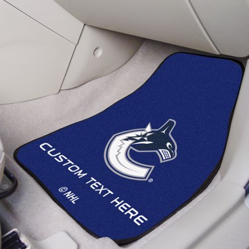 Picture of NHL - Vancouver Canucks Personalized Carpet Car Mat Set