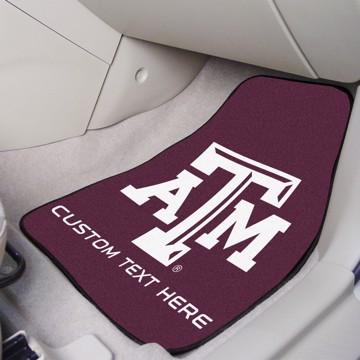 Picture of Texas A&M Personalized Carpet Car Mat Set