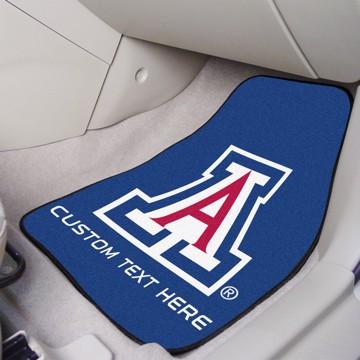 Picture of Arizona Personalized Carpet Car Mat Set