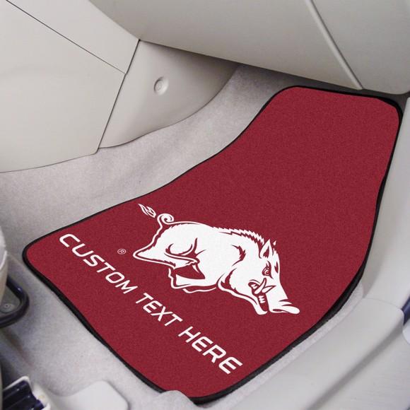 Picture of Arkansas Personalized Carpet Car Mat Set