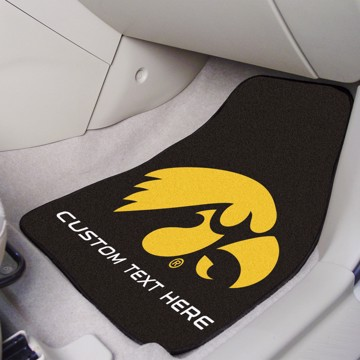 Picture of Iowa Personalized Carpet Car Mat Set
