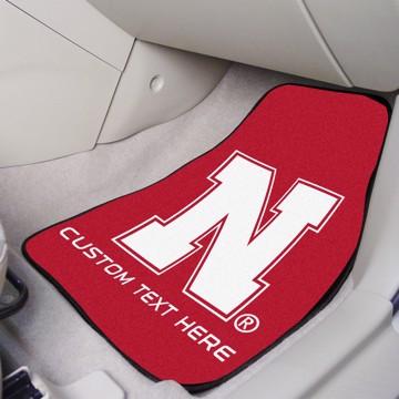 Picture of Nebraska Personalized Carpet Car Mat Set